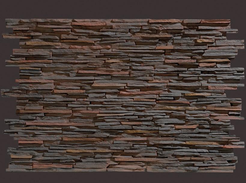 Panel piedra laja fina multicolor panel decorativo - Paneles de poliuretano ...